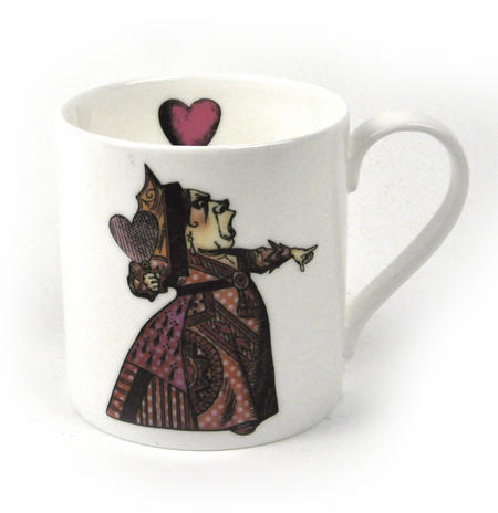 Alice In Wonderland Fine Porcelain Queen of Hearts Mug - 'Off With Her Head'