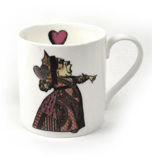 Alice In Wonderland Fine Porcelain Queen of Hearts Mug - 'Off With Her Head' Thumbnail 1