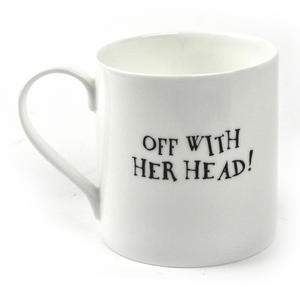 Alice In Wonderland Fine Porcelain Queen of Hearts Mug - 'Off With Her Head' Thumbnail 2