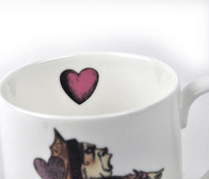 Alice In Wonderland Fine Porcelain Queen of Hearts Mug - 'Off With Her Head' Thumbnail 3