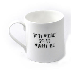Alice In Wonderland Fine Porcelain Tweedledee and Tweedledum Mug - 'If it were, so it might be' Thumbnail 2