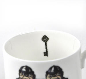 Alice In Wonderland Fine Porcelain Tweedledee and Tweedledum Mug - 'If it were, so it might be' Thumbnail 3