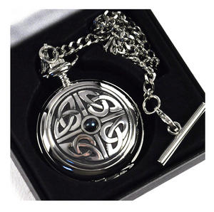 Celtic Square Knot with Gemstone Pocket Watch Thumbnail 1