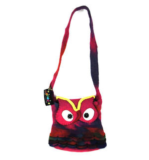 Fairtrade Felt Owl Shoulder Bag Thumbnail 1
