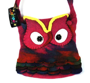 Fairtrade Felt Owl Shoulder Bag Thumbnail 2