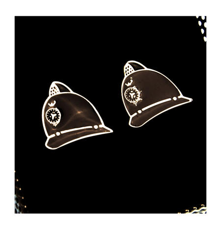 Cufflinks - Police Helmets