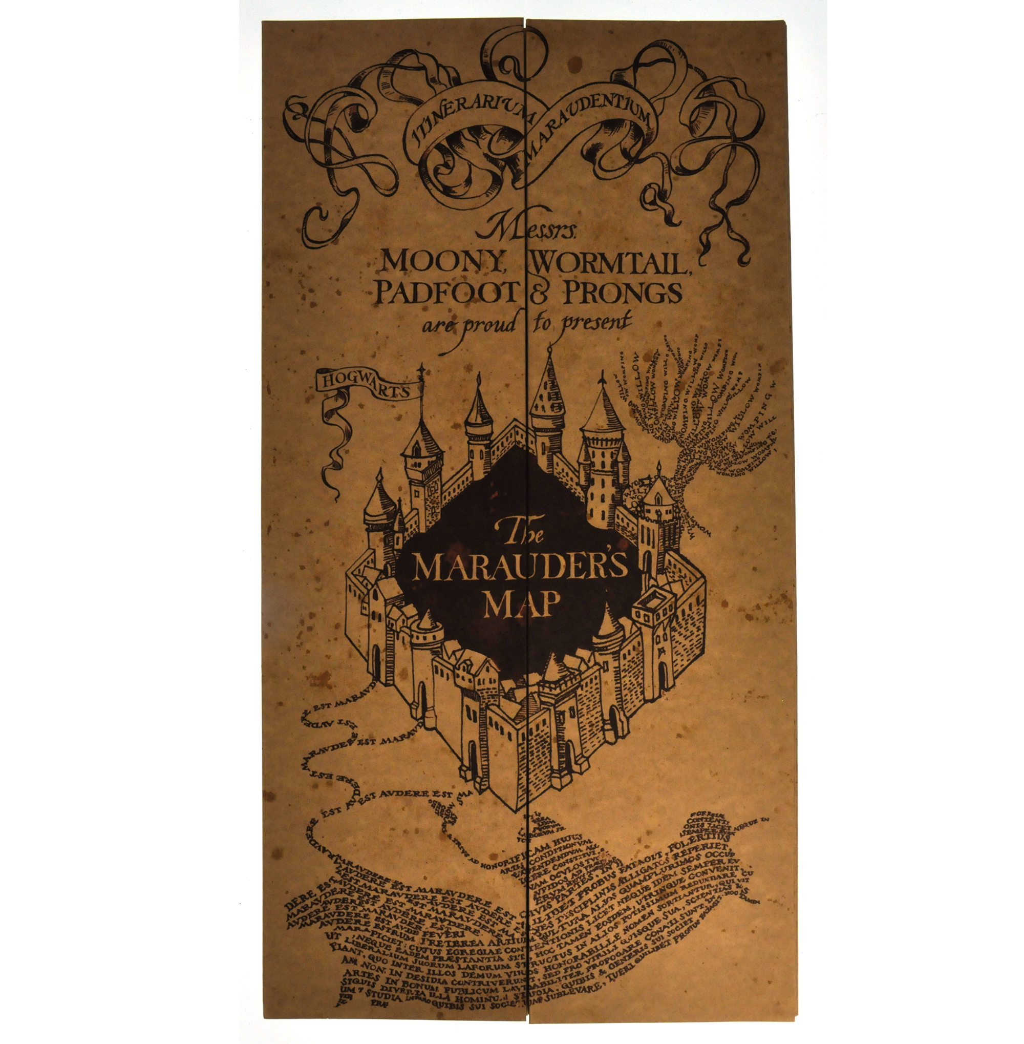 Harry potter replica the marauder map