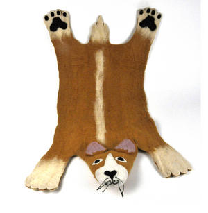 Prince the Corgi Dog Super Felt Rug Thumbnail 2