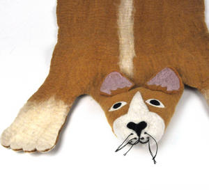 Prince the Corgi Dog Super Felt Rug Thumbnail 3