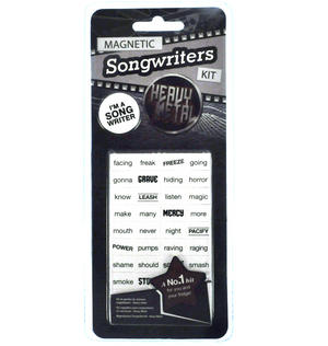 Heavy Metal Fridge Magnet Lyrics Set - Songwriters Kit Thumbnail 2