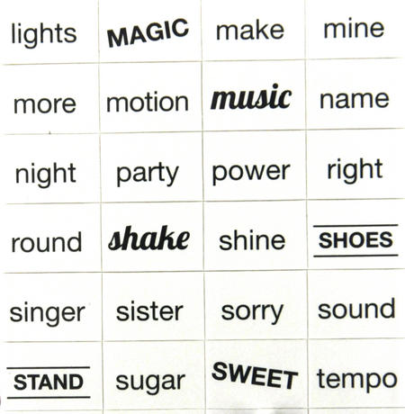 Girl Group Fridge Magnet Lyrics Set - Songwriters Kit