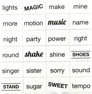 Girl Group Fridge Magnet Lyrics Set - Songwriters Kit Thumbnail 1