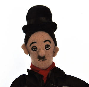 Charlie Chaplin Finger Puppet & Fridge Magnet Thumbnail 2