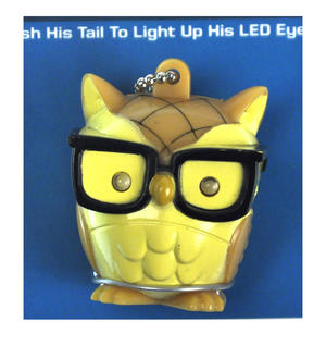 Nerd Bird LED Owl Keyring Thumbnail 2