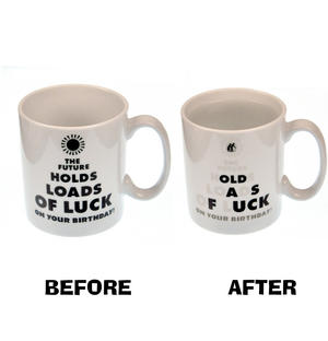 Future Luck  > Old as Fuck - Disappearing Letters Heat Change Mug Thumbnail 1