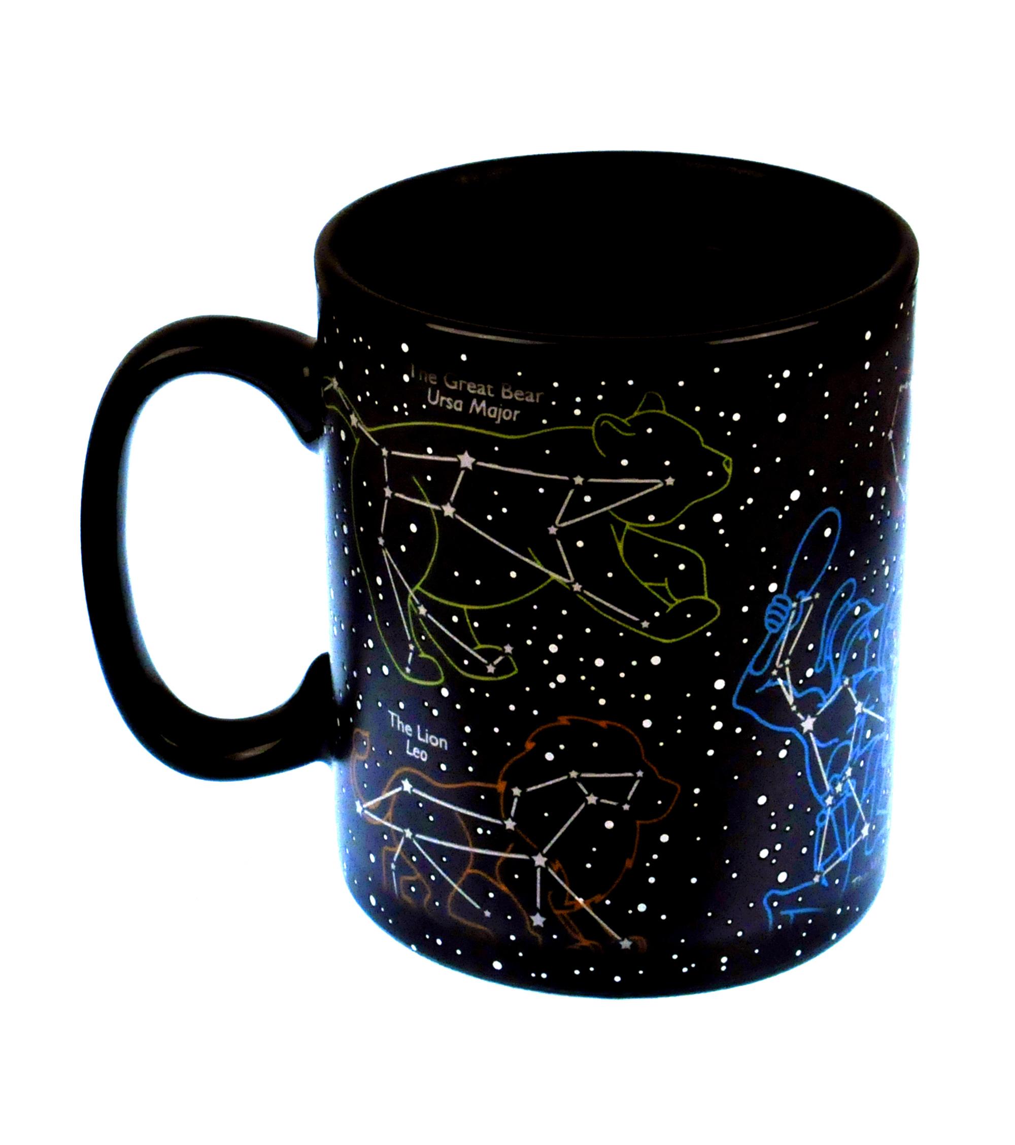 the star mug stars at night sky heat change mug pink cat shop. Black Bedroom Furniture Sets. Home Design Ideas