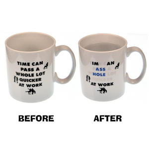 Time at Work > Asshole at Work - Disappearing Letters Heat Change Mug Thumbnail 1