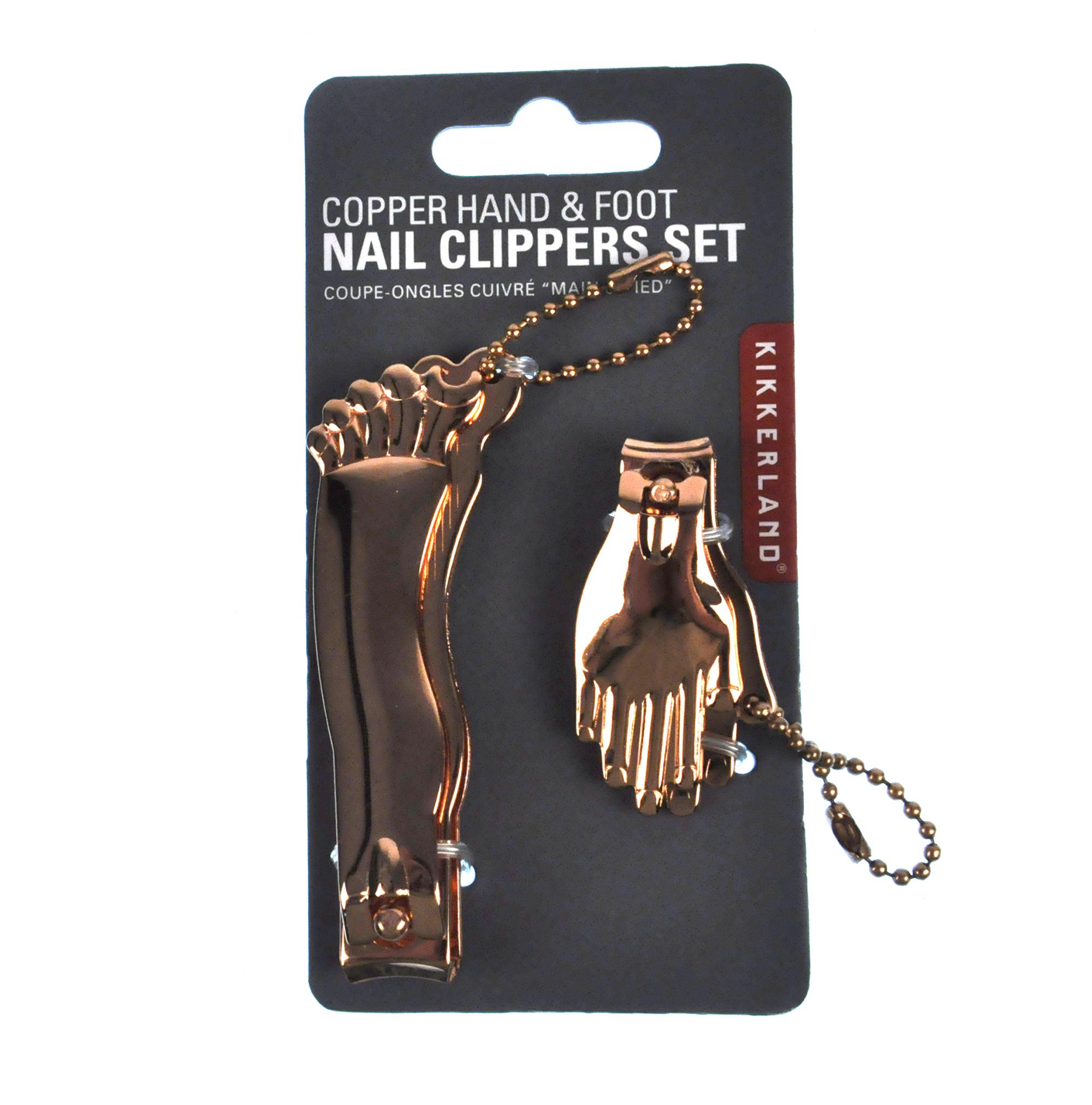 Copper Hand And Foot Nail Clipper Set | Pink Cat Shop