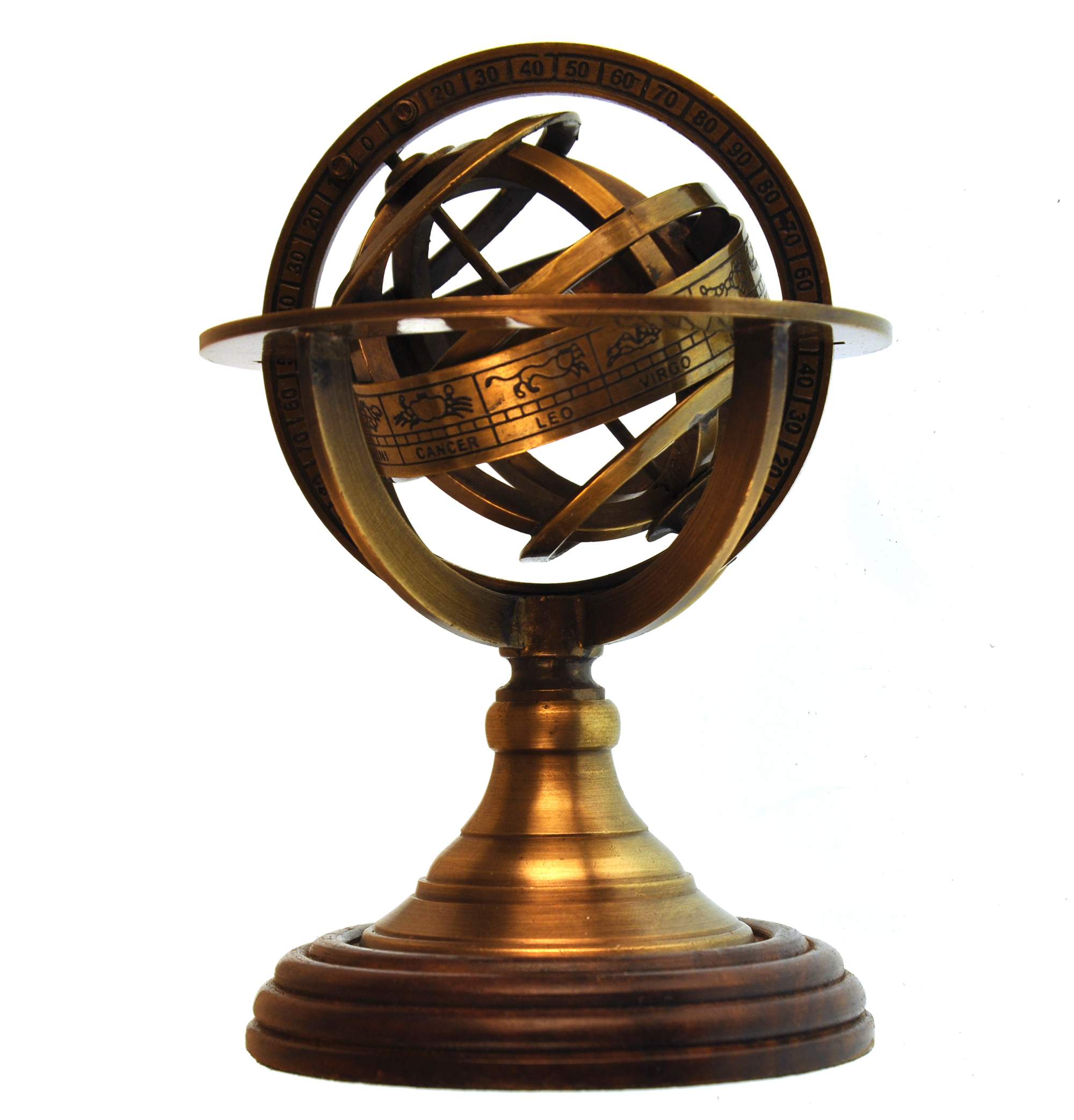 Antique Science Instruments : Armillary sphere astrology globe scaled replica antique