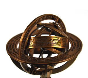 Armillary Sphere Astrology Globe - Scaled Replica Antique Scientific Instrument / Paperweight Thumbnail 4
