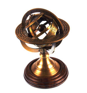 Armillary Sphere Astrology Globe - Scaled Replica Antique Scientific Instrument / Paperweight Thumbnail 5