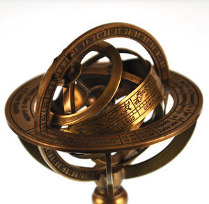 Armillary Sphere Astrology Globe - Scaled Replica Antique Scientific Instrument / Paperweight Thumbnail 6