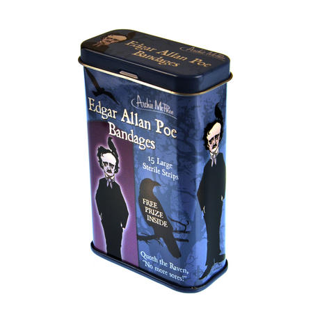 Edgar Allan Poe Plasters - Band Aids In A Tin