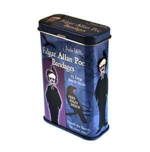 Edgar Allan Poe Plasters - Band Aids In A Tin Thumbnail 1