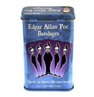Edgar Allan Poe Plasters - Band Aids In A Tin Thumbnail 2
