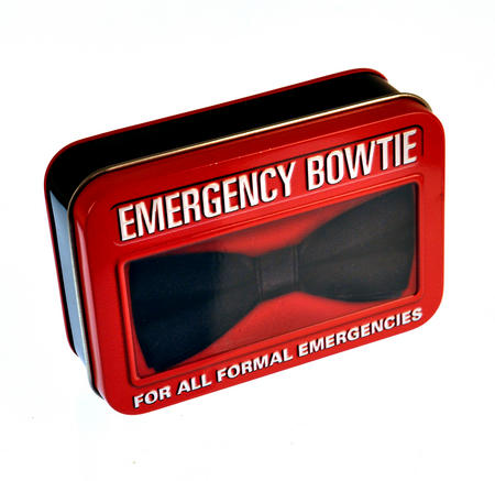 Emergency Bow Tie in a Tin