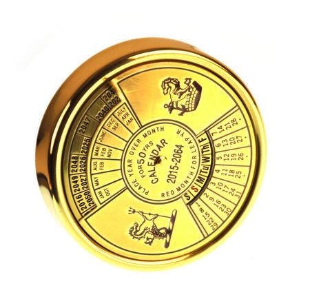 Brass 50 Year Calendar