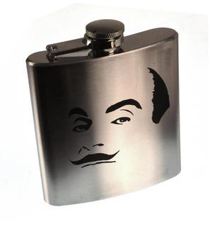 Hercule Poirot Moustache Hip Flask Thumbnail 2