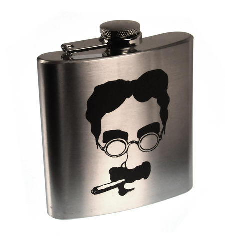 Groucho Marx Moustache Hip Flask