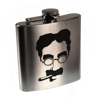 Groucho Marx Moustache Hip Flask Thumbnail 1
