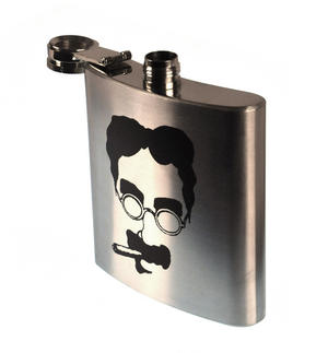 Groucho Marx Moustache Hip Flask Thumbnail 2