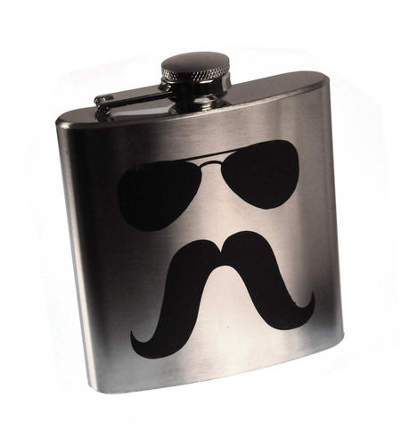 Zapata Moustache Hip Flask