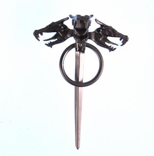 Daenerys Targaryen Three  Dragon Head Cloak Pin - The Game of Thrones Replica Thumbnail 1