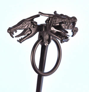 Daenerys Targaryen Three  Dragon Head Cloak Pin - The Game of Thrones Replica Thumbnail 3