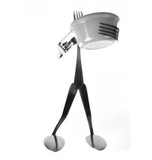 Nibbles Dish Fork - Forked Up Art Thumbnail 5