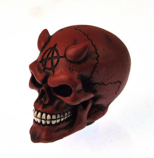 Red Demon Skull Gear Knob Thumbnail 1