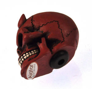 Red Demon Skull Gear Knob Thumbnail 2