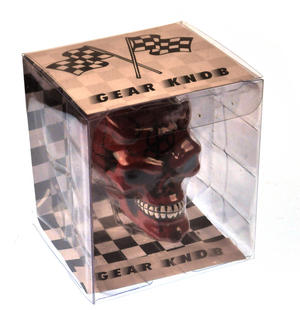 Red Demon Skull Gear Knob Thumbnail 3