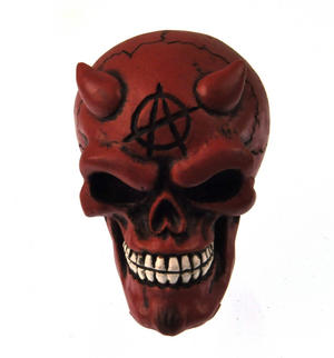 Red Demon Skull Gear Knob Thumbnail 4