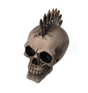 Bullet Mohawk Skull - 19cm Thumbnail 3