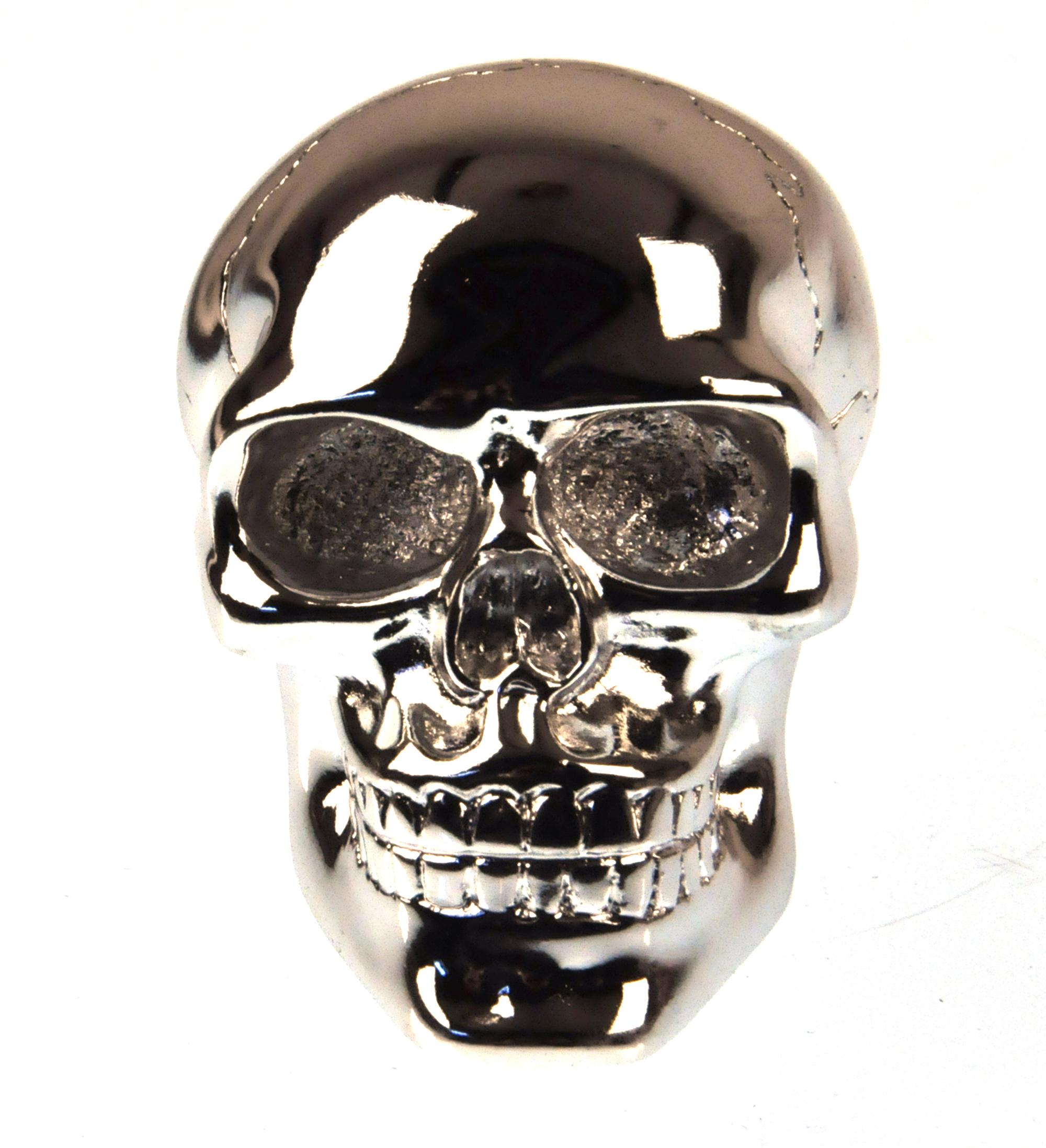 Chrome Skull Gear Knob Pink Cat Shop