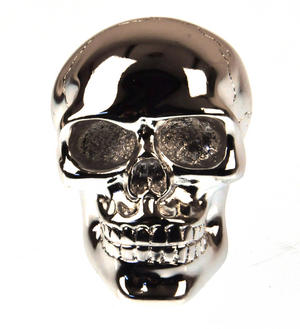 Chrome Skull Gear Knob Thumbnail 3