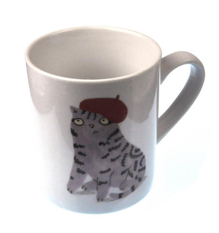 Tabby and Beret - Cats and Hats Mug By Magpie