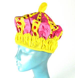Queen of the Bathroom Bath & Shower Cap / Swim Cap Crown Thumbnail 2