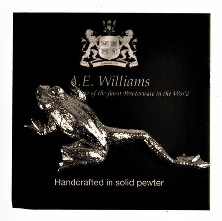 Solid Pewter Climbing Frog Stick Lapel / Tie Pin