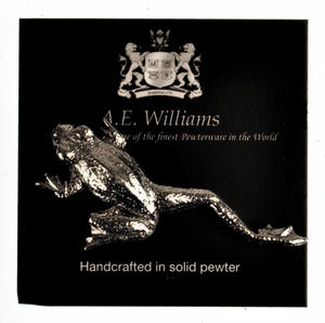 Solid Pewter Climbing Frog Stick Lapel / Tie Pin Thumbnail 1